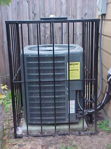 wrought iron air conditioner cage