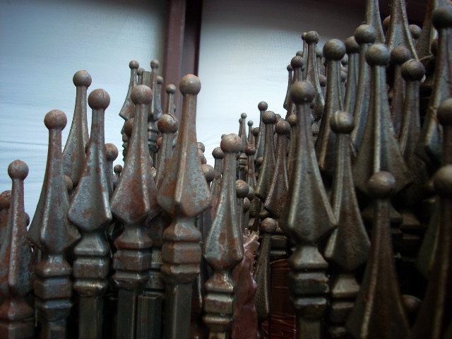 wrought iron spear tops