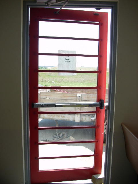security bars on commercial retail store door