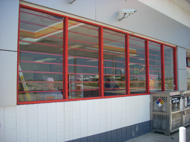 security bars for windows on commercial retail store