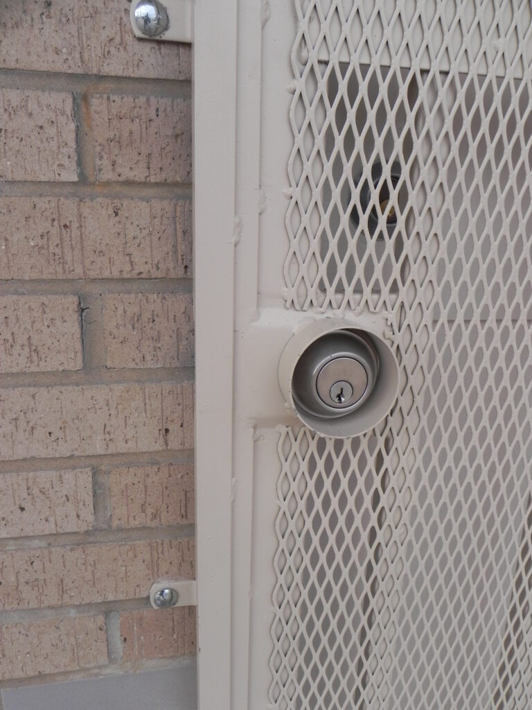 security lock on door