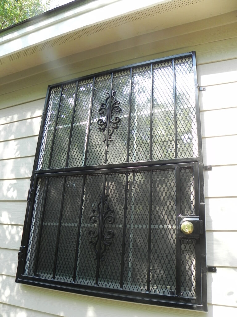 fire safe burglar bars on window